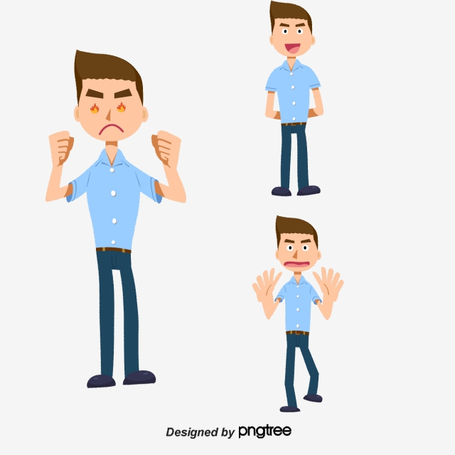 Angry Vector Character, Character Clipart, Business People, Cartoon.