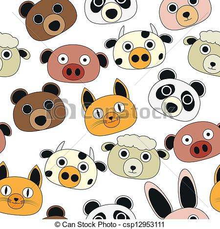 Vector Clip Art of animal comics.