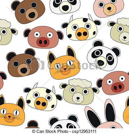 Vector Clip Art of animal comics.