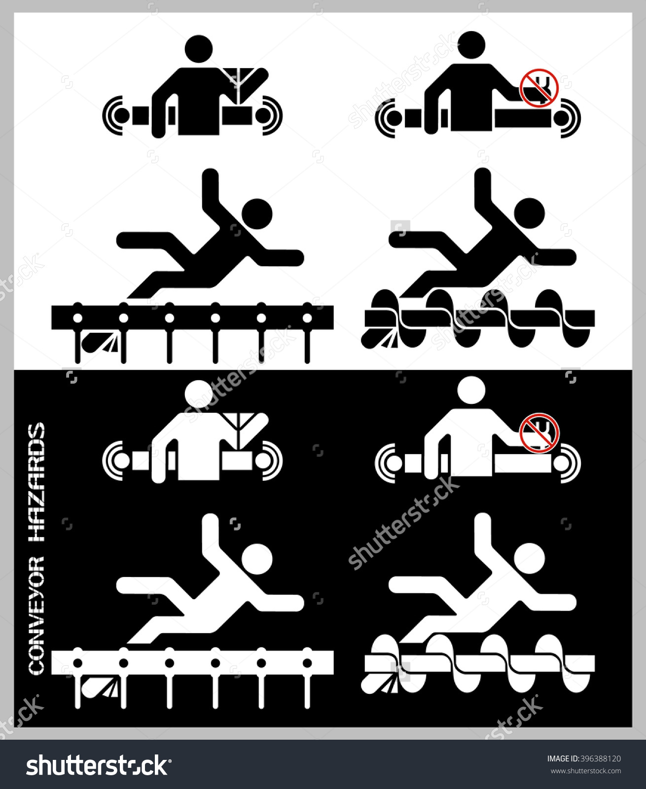 Dangerous Working Conditions Clipart.