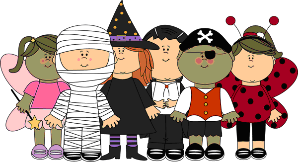 Halloween Characters Clipart.