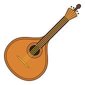 Lute Instrument Stock Illustrations.