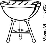 Royalty Free Charcoal Grill Illustrations by Hit Toon Page 1.