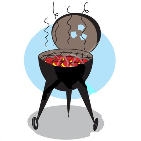 Charcoal Barbecue Grills Clipart.