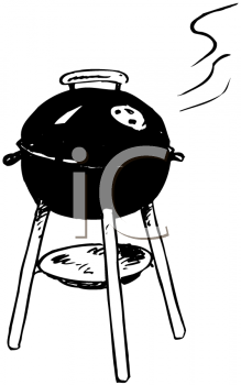 Charcoal grill clipart.