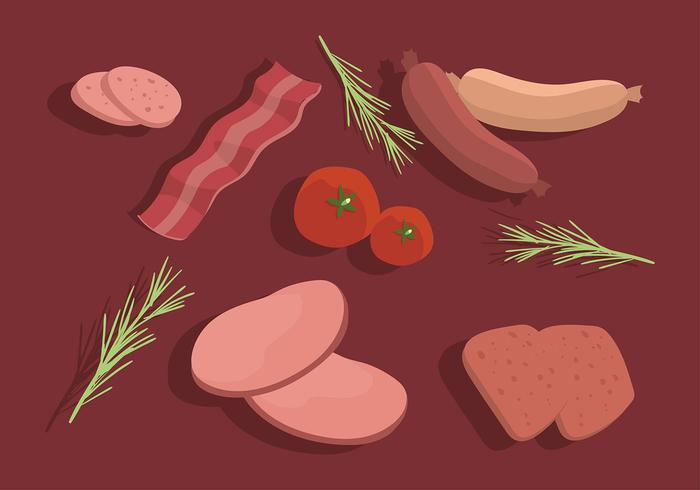 Charcuterie Table Set Free Vector.