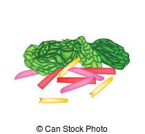 Rainbow swiss chard Clip Art Vector and Illustration. 6 Rainbow.