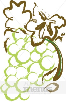 Wine And Grapes Clipart.