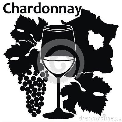 Chardonnay White Wine Stock Photo.