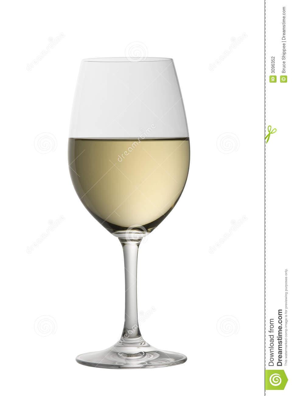 Glass Of Chardonnay Stock Photography.