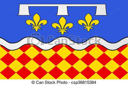Stock Illustration of Flag of Charente, France.
