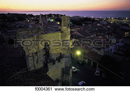 Stock Photography of night, lighting, light, town, city, general.