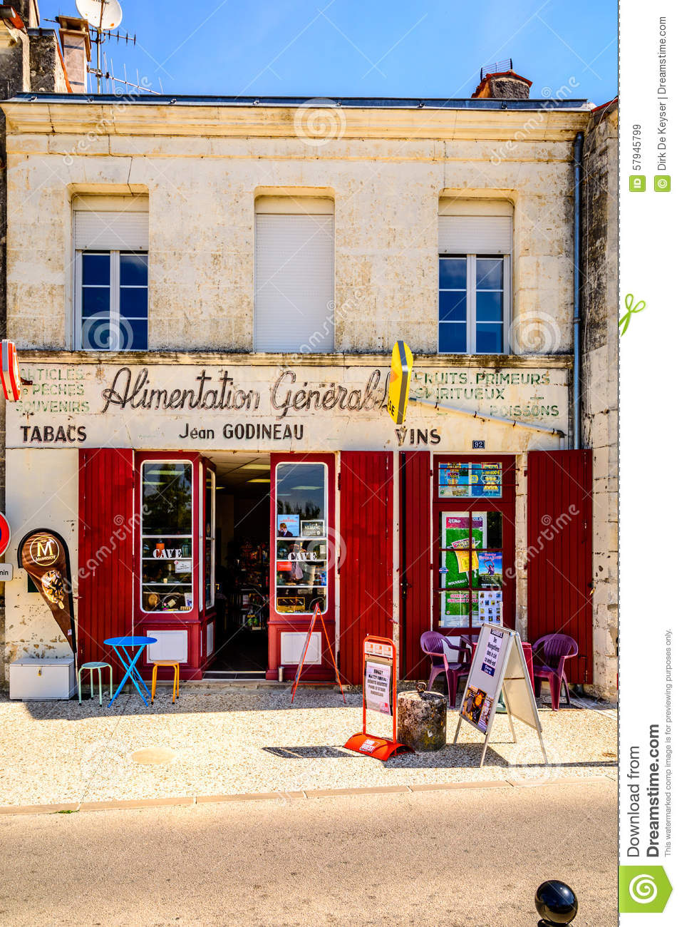 Shop Tabac In A Village In Charente Maritime, France Editorial.