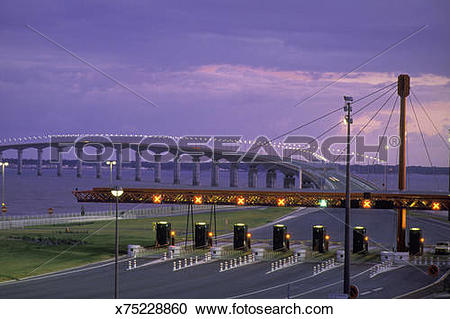 Stock Photography of TOLL OF THE OLERON BRIDGE GOING TO THE ILE DE.