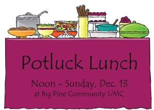 Potluck Lunch and Charge Conference Gathering.