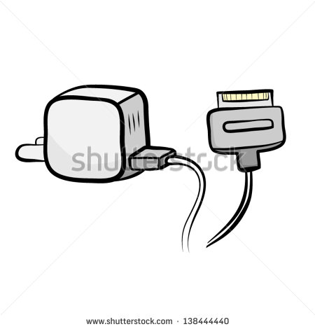 Iphone charger clipart.