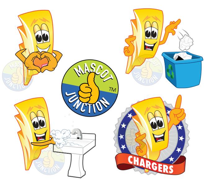 Charger Mascot Clip Art.