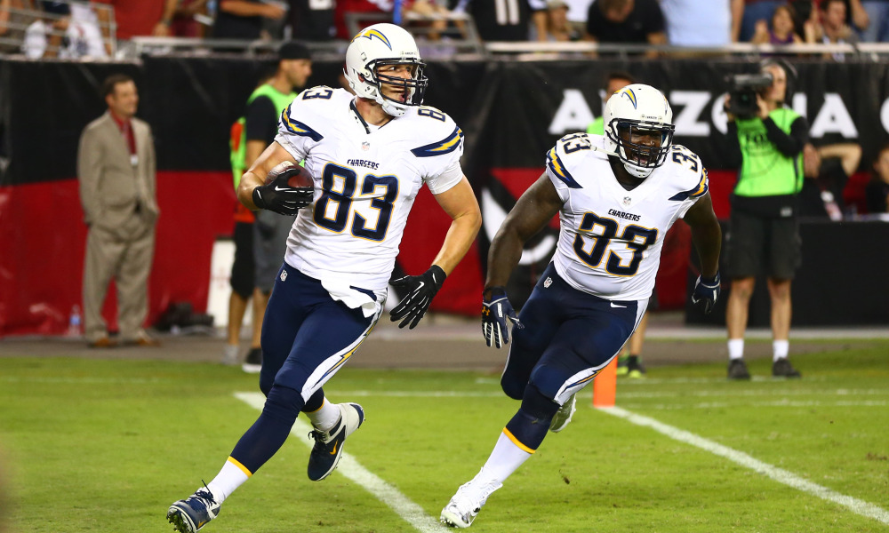 Chargers score the most bizarre preseason touchdown you'll see.