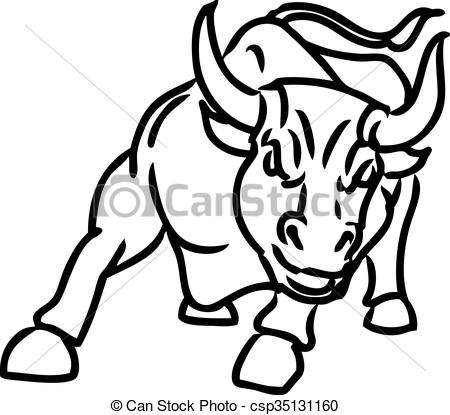 Charging bull Vector Clipart EPS Images. 704 Charging bull clip art.
