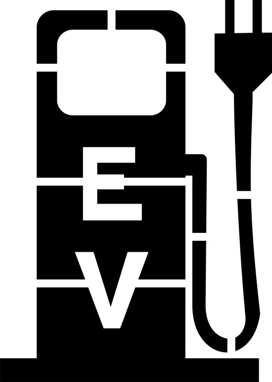 Electric Vehicle Charging Station Pump Painting Stencil.