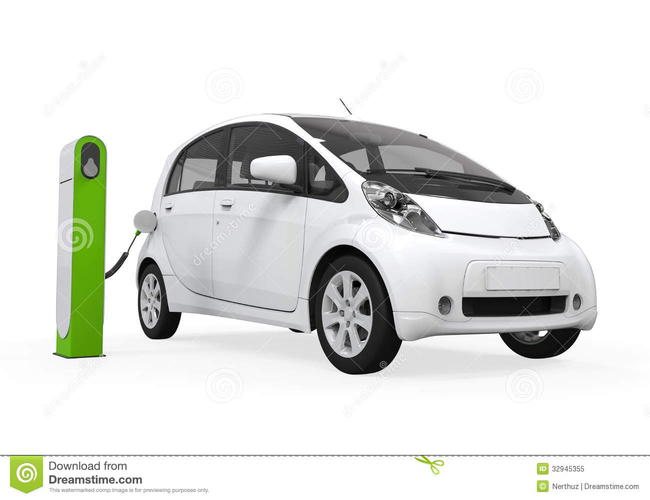 Electric Car Charging Station Stock Illustrations.