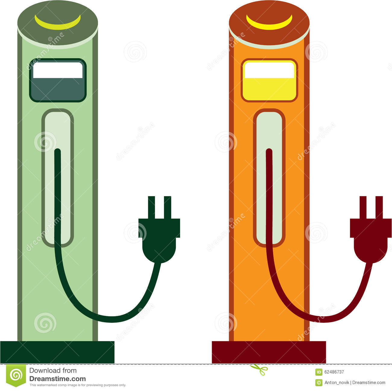 Charging Station Stock Vector.
