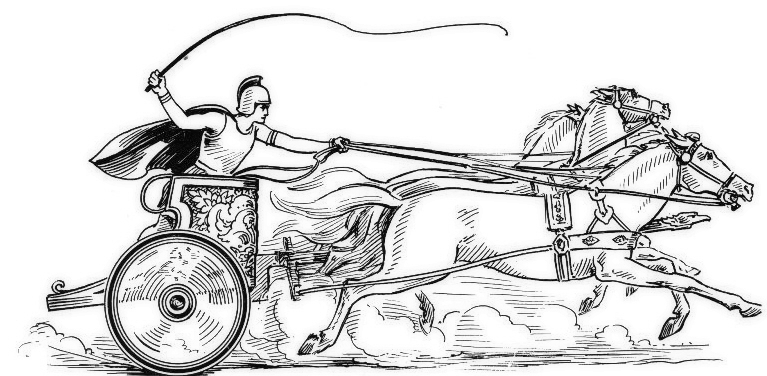 Chariot Clip Art Black and White.