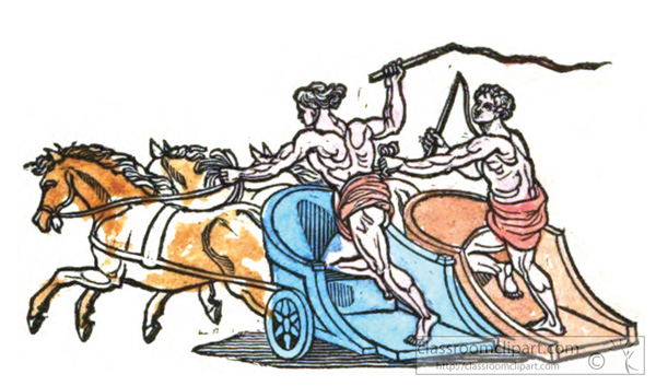 how to make a roman chariot for kids