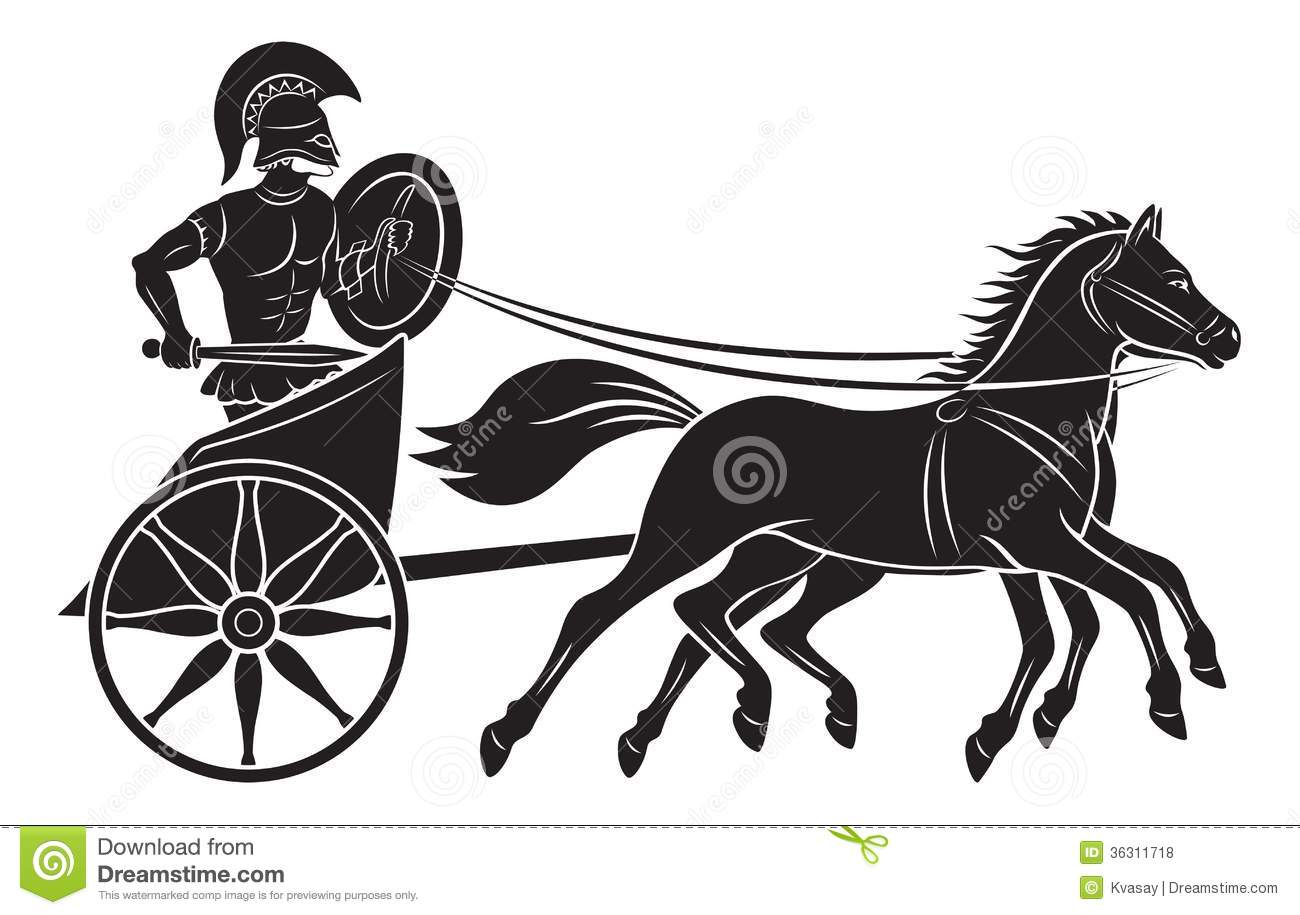 Roman chariot clipart.