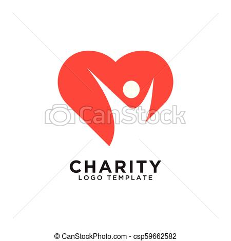 Charity logo design template.