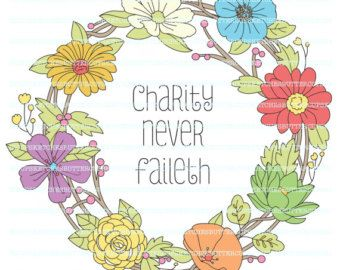LDS Relief Society Clipart Clip Art, Faith Hope Charity.