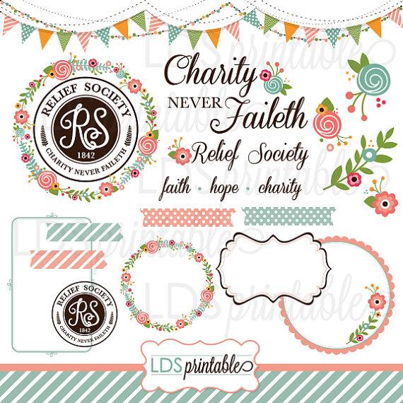LDS Relief Society Clipart Clip Art, Faith Hope Charity.
