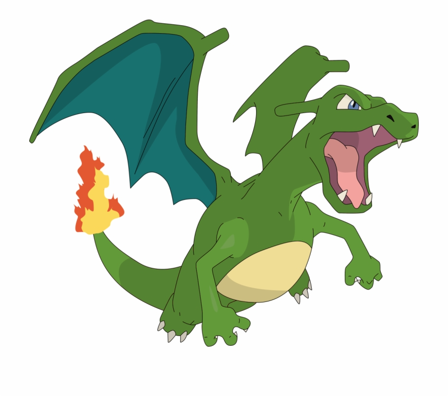 Green Dragon Charizard ,.