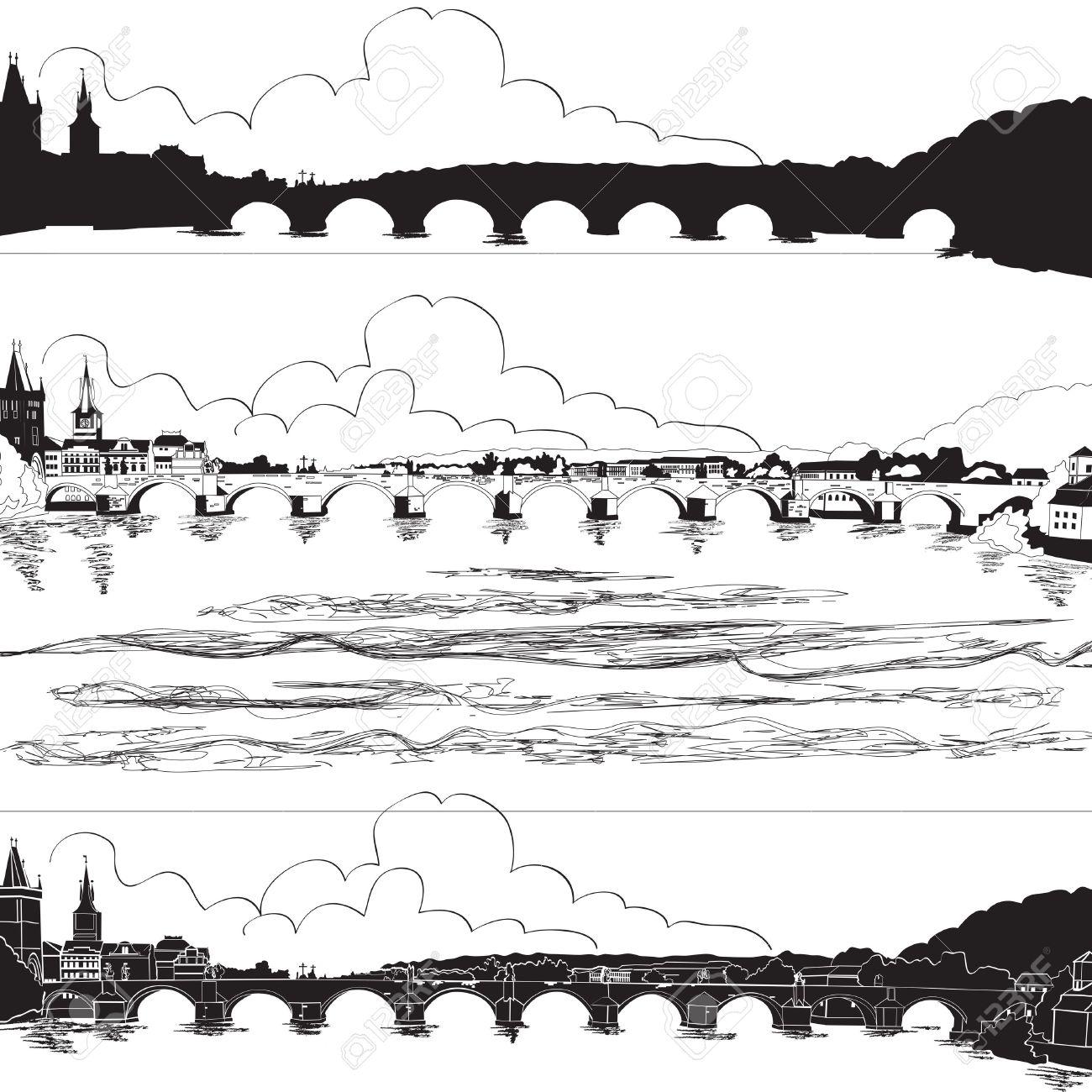 Charles Bridge, Prague Royalty Free Cliparts, Vectors, And Stock.
