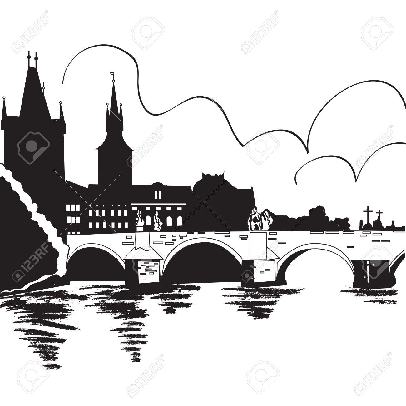 Charles Bridge Royalty Free Cliparts, Vectors, And Stock.