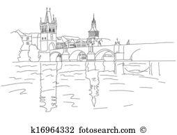 Charles bridge Clipart Vector Graphics. 58 charles bridge EPS clip.