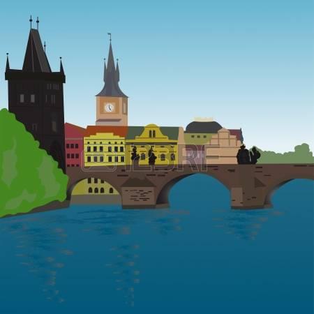 159 Charles Bridge Prague Stock Vector Illustration And Royalty.