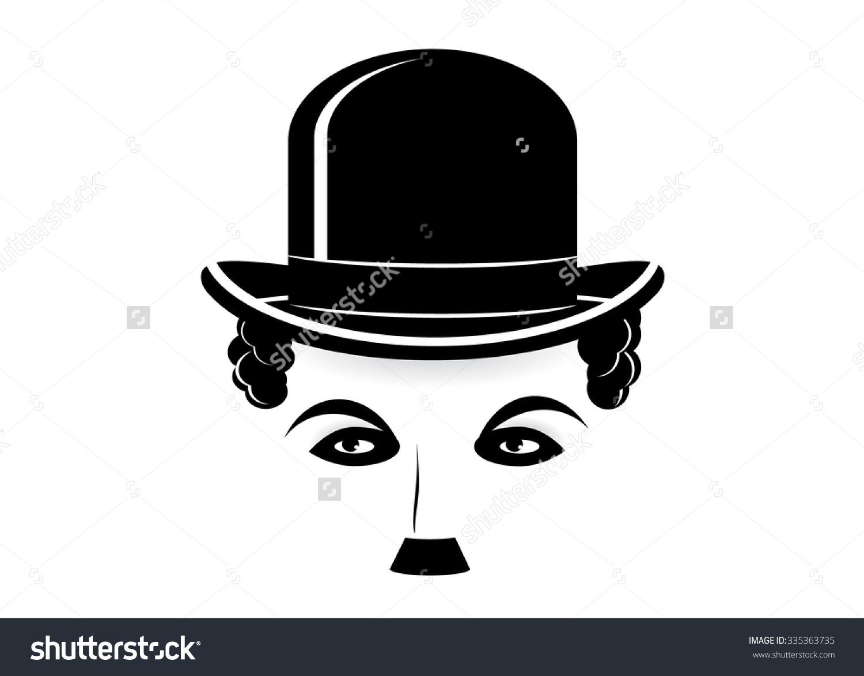 Icon Charlie Chaplin Charlie Chaplin Silhouette Stock Vector.