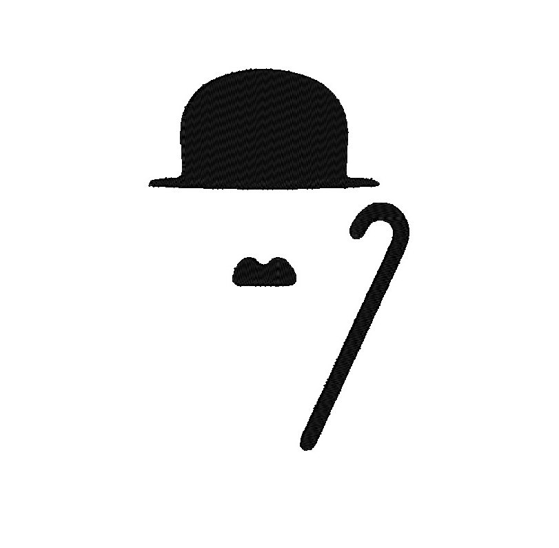Charlie Chaplin FILL 6 Sizes Style Moustache by DChaseDesigns.