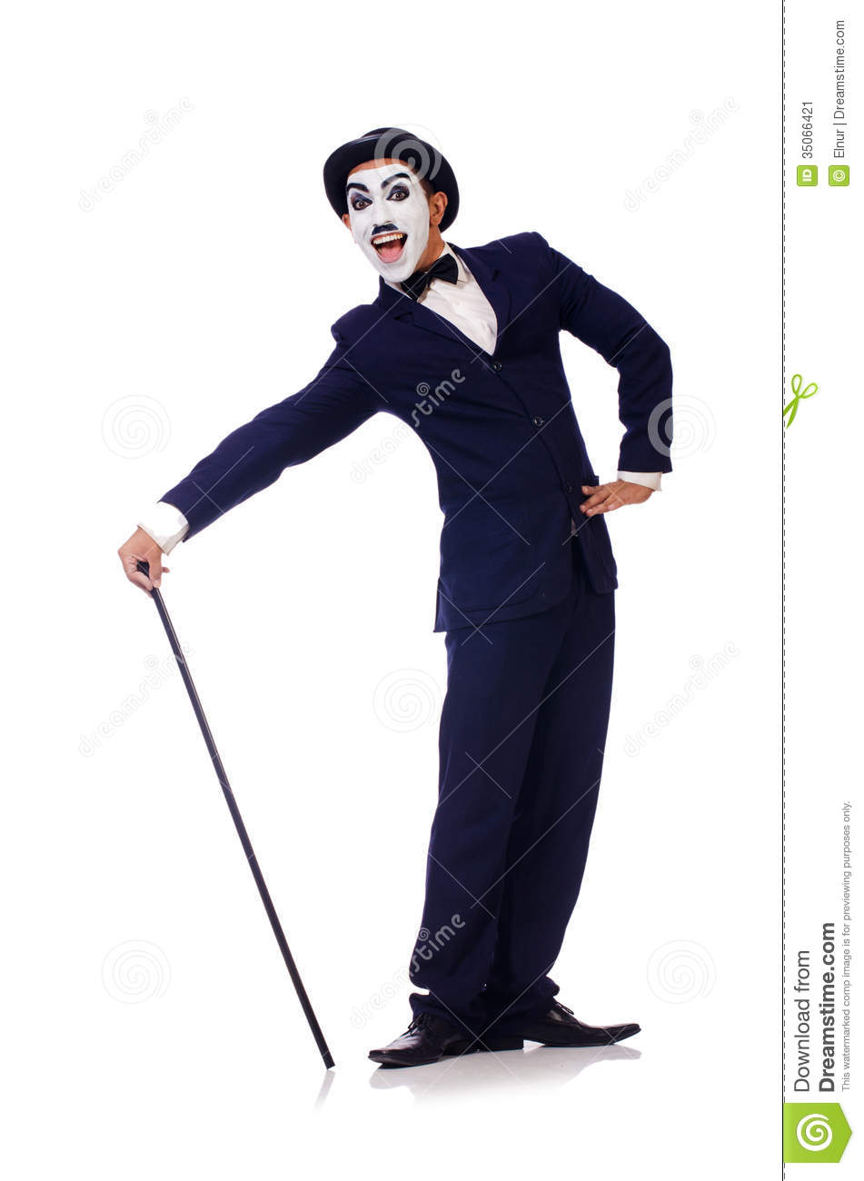 Personification Of Charlie Chaplin Stock Image.