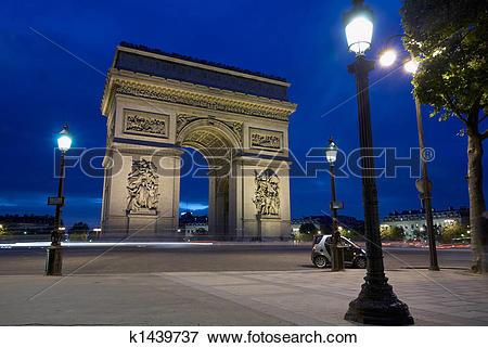 Picture of Arc de Triomphe at Place Charles de Gaulle, Paris.