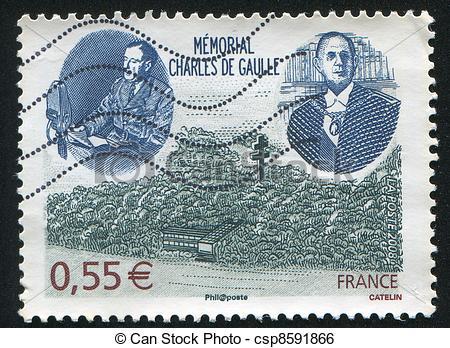 Stock Image of Charles de Gaulle Memorial.