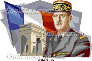 French President Charles de Gaulle Clip Art.