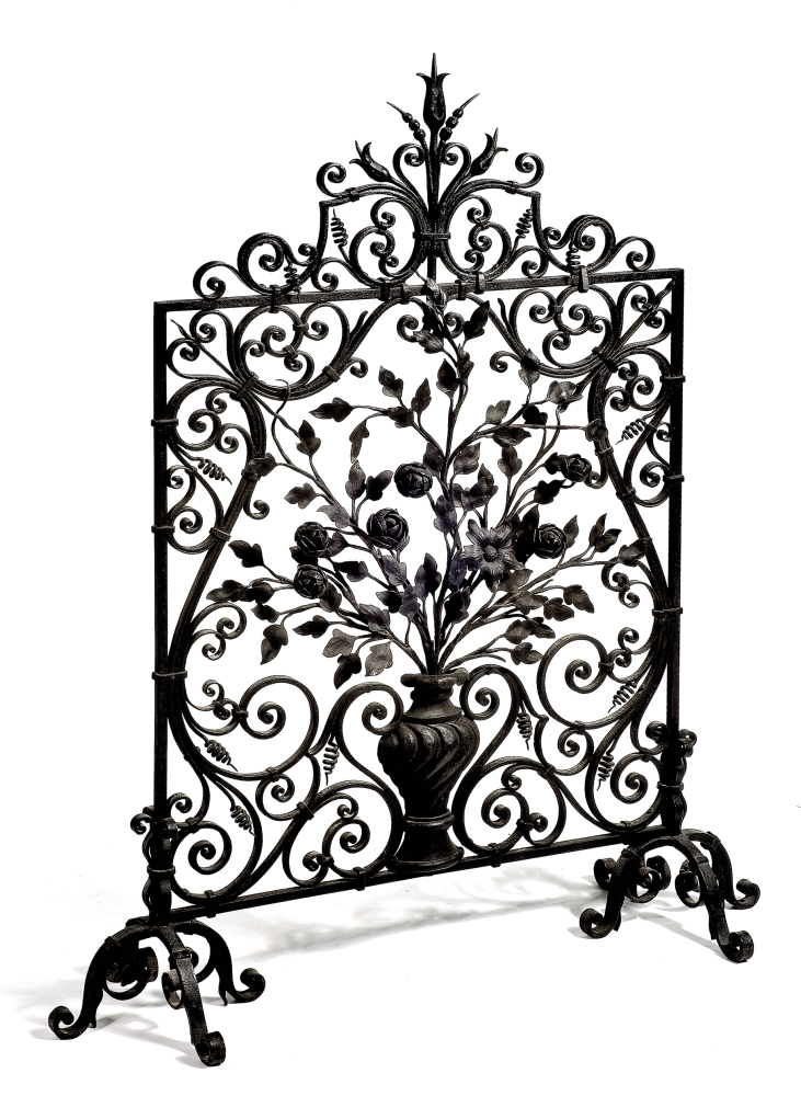 Wrought Iron Fire Guard.