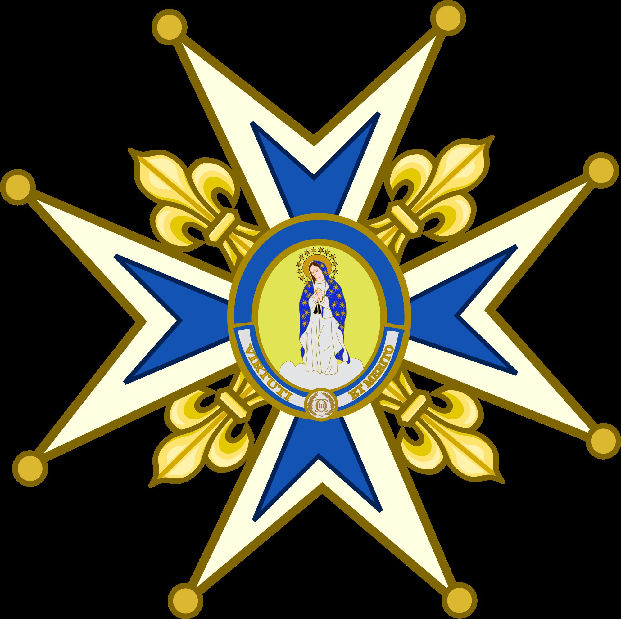 File:Venera de la Orden de Carlos III.svg.