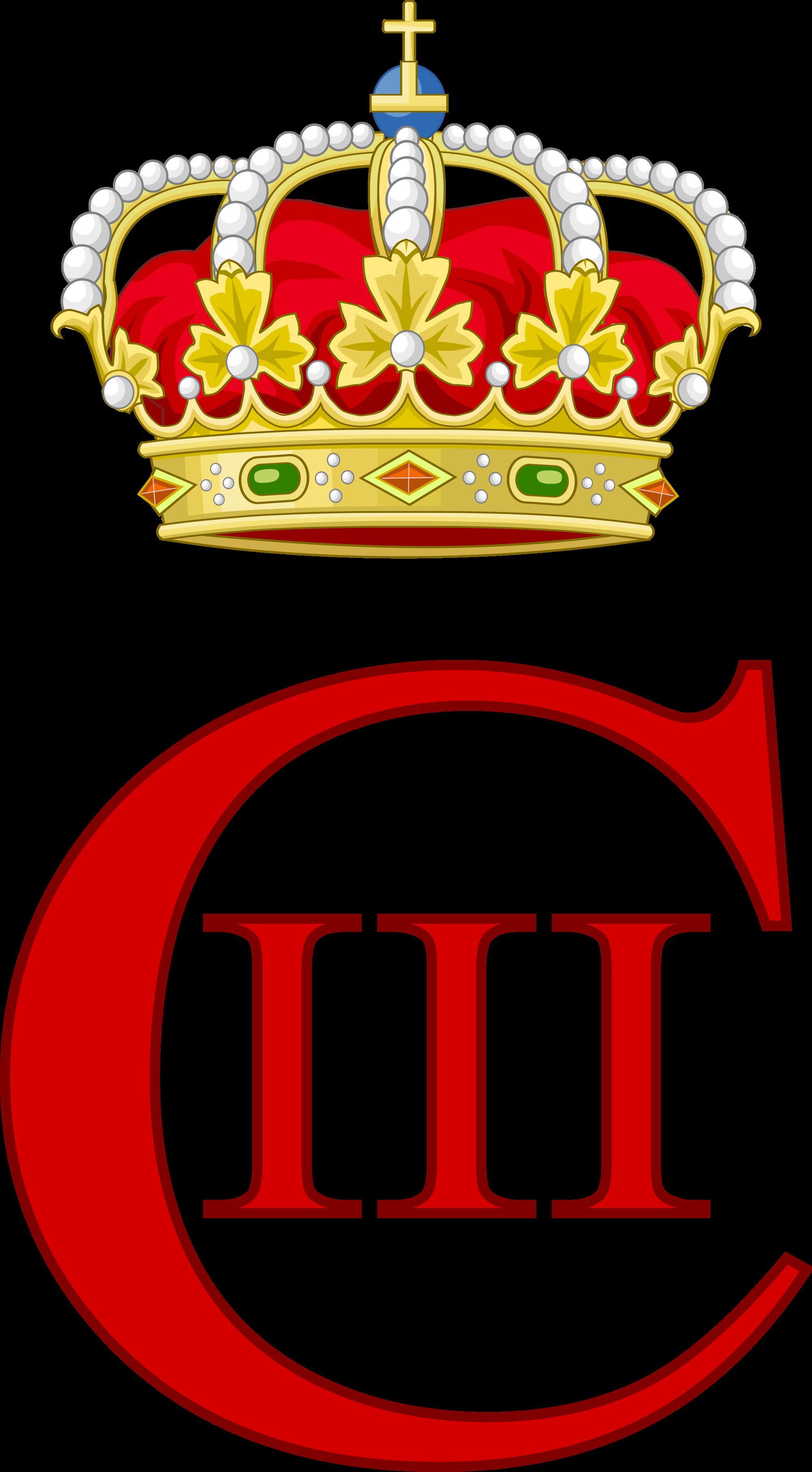 File:Royal Monogram of Charles III of Spain.svg.