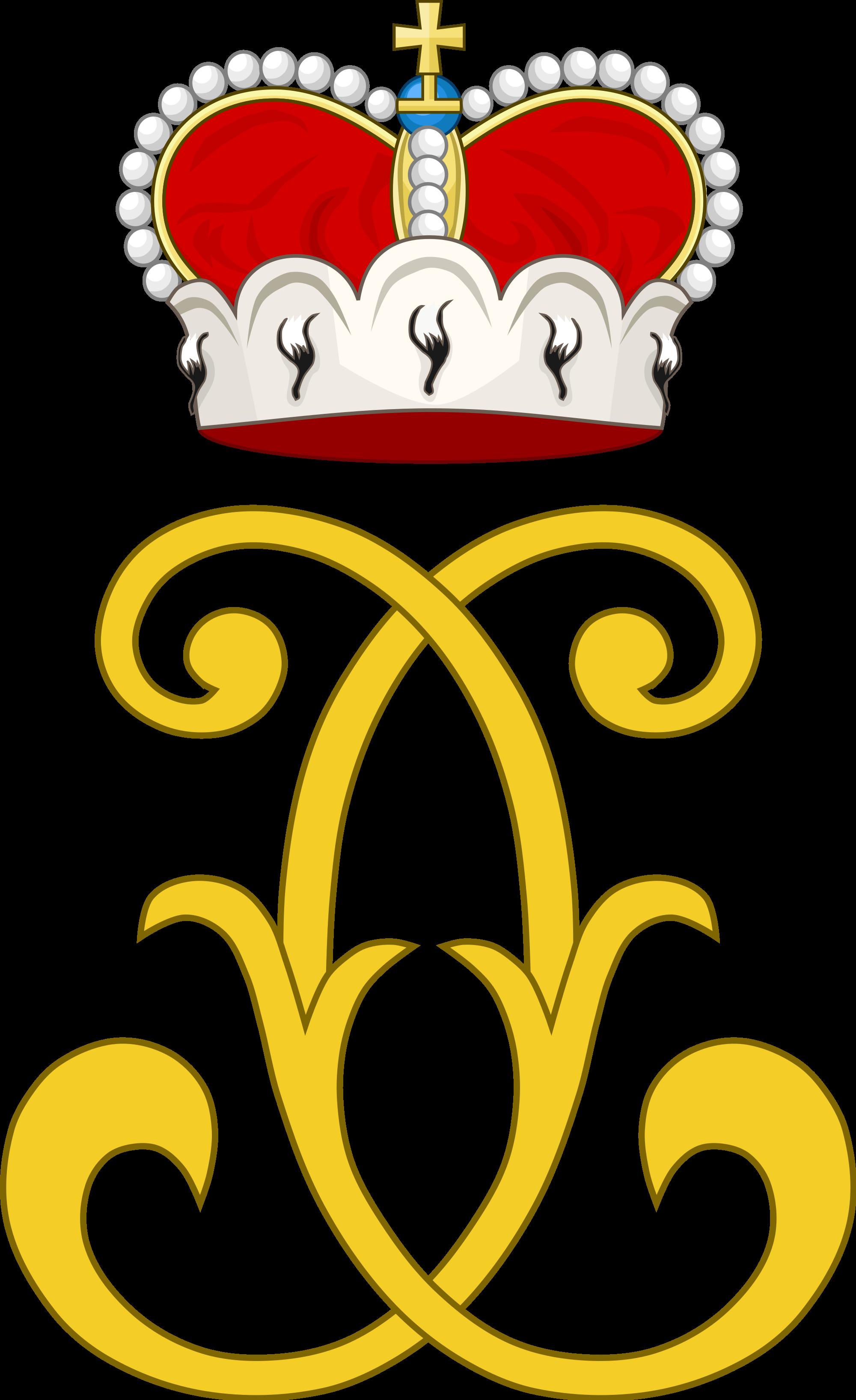 File:Royal Monogram of Charles III William, Margrave of Baden.