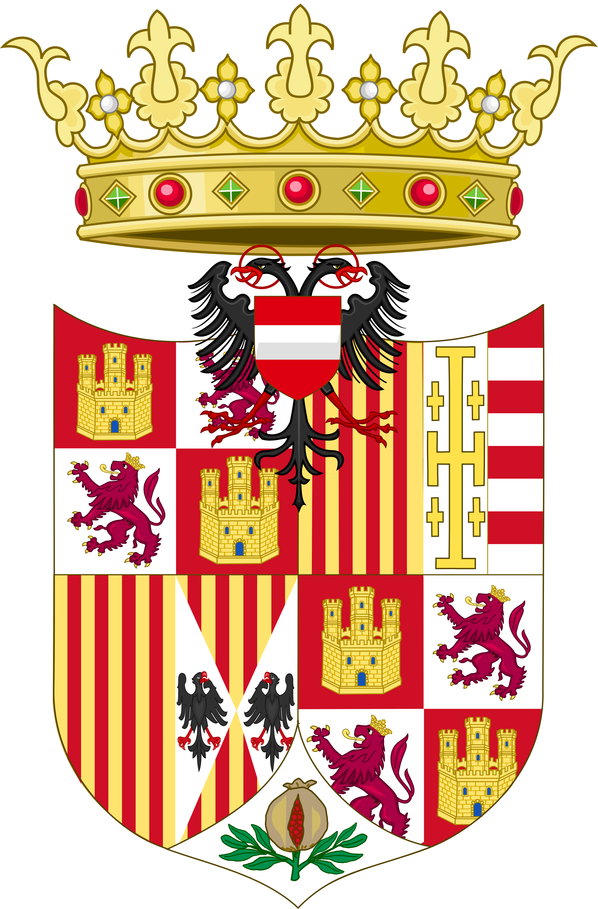 File:Coat of Arms of Charles IV of Naples (1516.