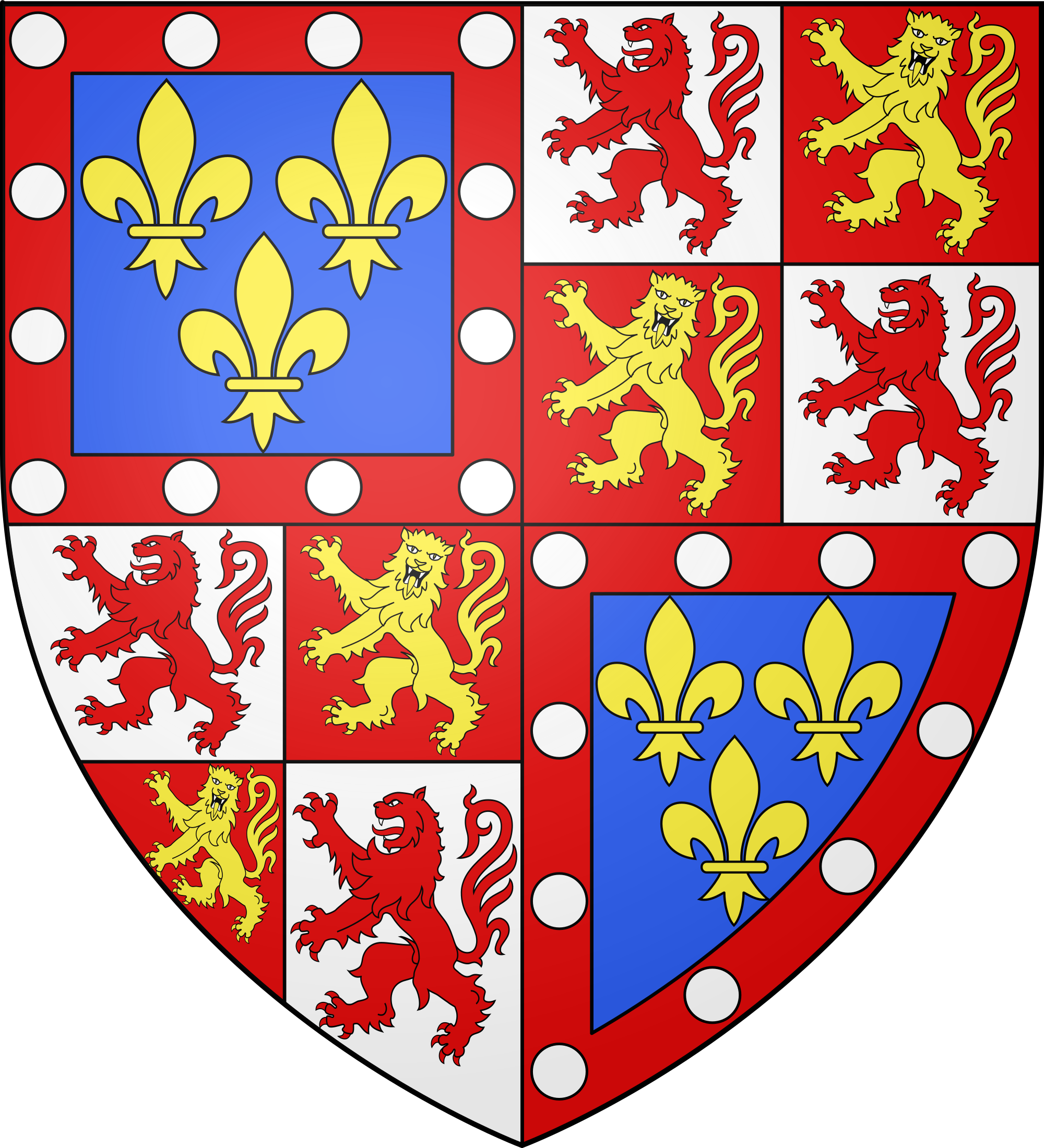 File:Armoiries Charles IV Alençon.svg.