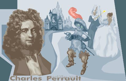 Charles perrault Royalty Free Vector Clip Art illustration.